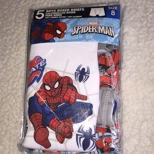 Boys size 8 boxer briefs Spider-Man